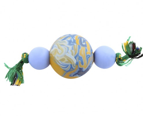 A4 - Beaded Dumbbell - scented solid rubber pet toy - dog - Essenti Enterprises, LLC - importer, exporter, supplier, distributor of pet products
