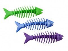 Dent-a-Chew Fishbone - 14cm - small scented solid rubber pet toy - dog - Essenti Enterprises, LLC - importer, exporter, supplier, distributor of pet products