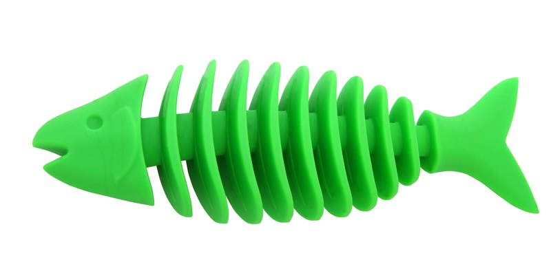 Dent-a-Chew Fishbone - 16cm - large scented solid rubber pet toy - dog - Essenti Enterprises, LLC - importer, exporter, supplier, distributor of pet products