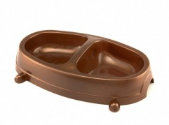 Double Bowl - small - dog, cat, plastic - Essenti Enterprises, LLC - importer, exporter, supplier, distributor of pet products
