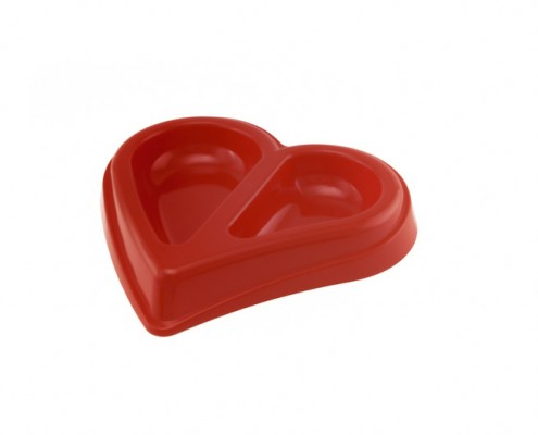 Heart Shaped Bowl - small - dog, cat - Essenti Enterprises, LLC - importer, exporter, supplier, distributor of pet products