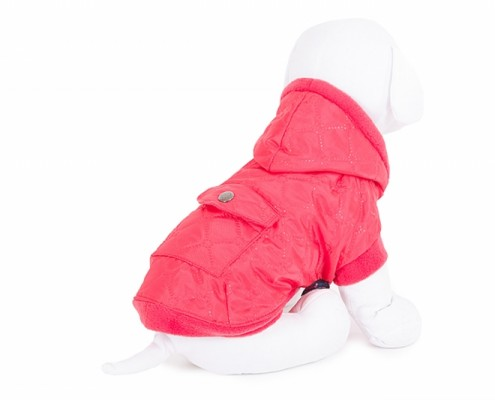 Hooded Dog Jacket - KZK3 - quilted - dog clothing, dog apparel, dog clothes - Essenti Enterprises, LLC - importer, exporter, supplier, distributor of pet products