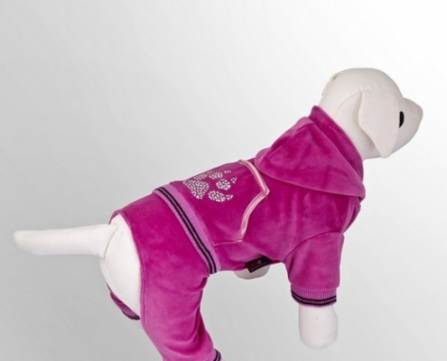 Tracksuit - Paw Print - Pink - dog clothing, dog apparel, dog clothes - Essenti Enterprises, LLC - importer, exporter, supplier, distributor of pet products