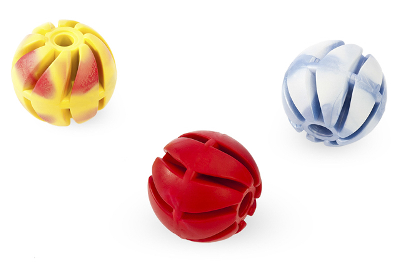 Spiral Ball 2 - 5cm - scented solid rubber pet toy - dog - Essenti Enterprises, LLC - importer, exporter, supplier, distributor of pet products