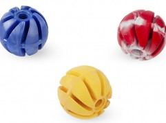 Spiral ball 1 - 4cm - scented solid rubber pet toy - dog - Essenti Enterprises, LLC - importer, exporter, supplier, distributor of pet products