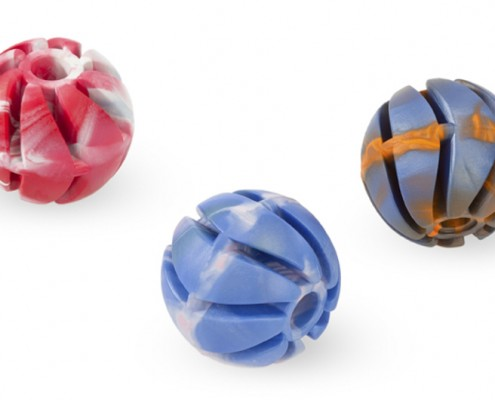 Spiral ball 3 - 6cm - scented solid rubber pet toy - dog - Essenti Enterprises, LLC - importer, exporter, supplier, distributor of pet products