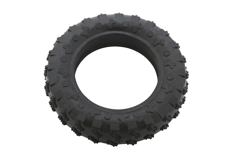 Tire 15cm - scented solid rubber pet toy - dog - eco friendly - Essenti Enterprises, LLC - importer, exporter, supplier, distributor of pet products